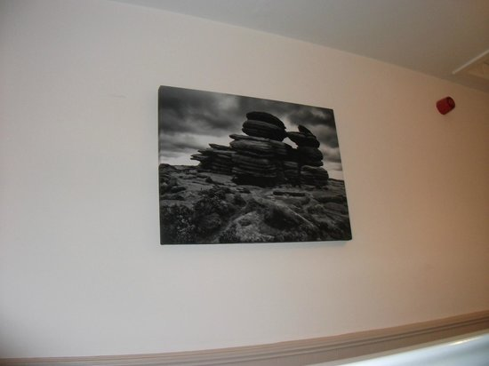 Griff House Bed & Breakfast: Some of the artwork in the hall way