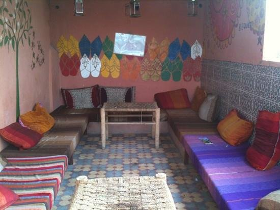Hostel Riad Marrakech Rouge : terrazza