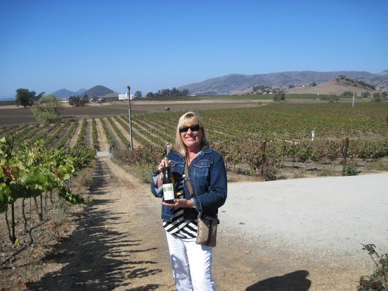 A nice bottle of Chardonnay at Wolff Vineyards