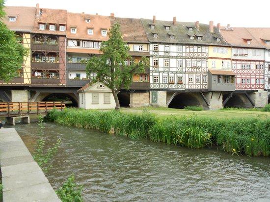 Krämerbrücke: vom Hotel fotgrafiert