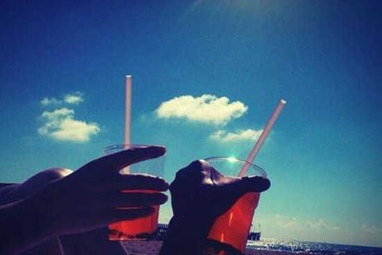 Grand Hotel Imperiale : Plastic cups to get closer to the sea!