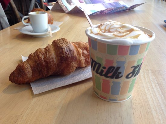 Milk Shop : Croissant and milk bar caramel latte