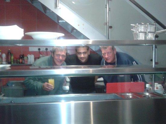 Pissouri Bay Cafe Bar : us with alex