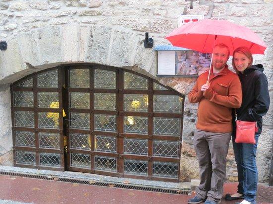 Abbaye de Maizières : The front door