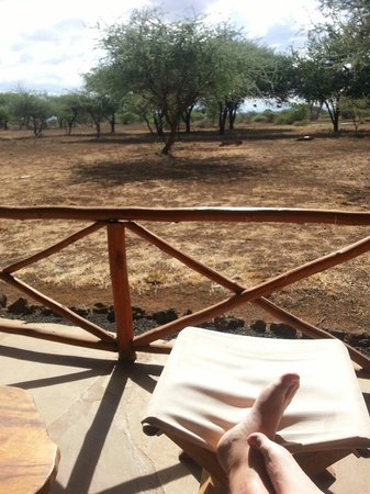 Severin Safari Camp: Uitzicht vanop het terras van een tent!