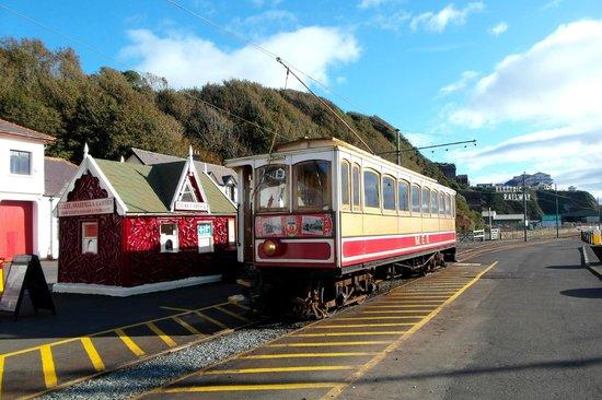 Manx Electric Railway: Derby Castle Station in Douglas