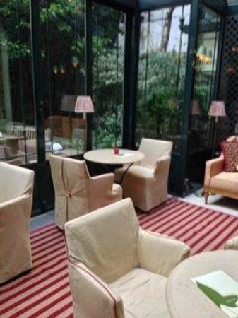 Hotel de l'Abbaye Saint-Germain : テラス