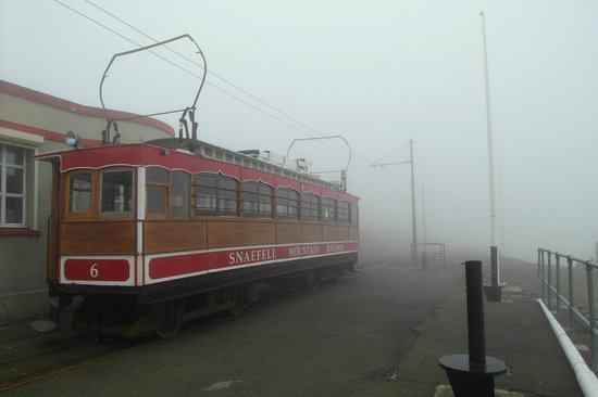 Manx Electric Railway: Snaefell Mountain Railway: On the Top