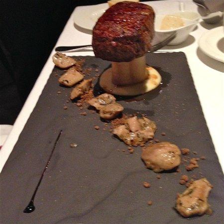 Otto Ristorante: Prime beef with bone mallow on hot stone - creative yet delicious!
