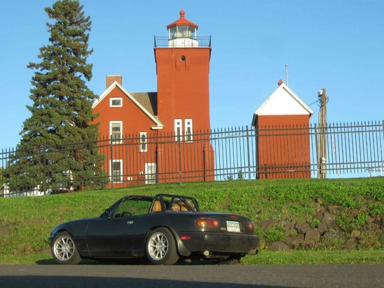 Two Harbors Lighthouse: Light house and my favorite traveling car