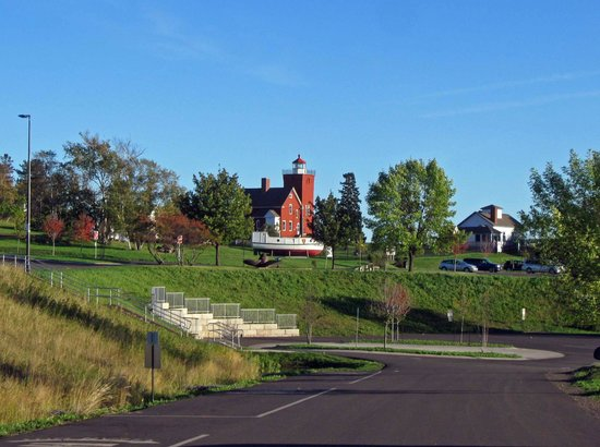 Two Harbors Lighthouse: Light house grounds from a distance