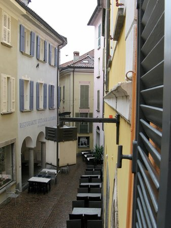 Residenza Motta: View down the street from our room