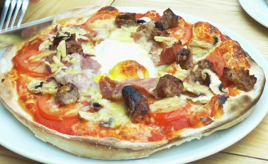 Full English Breakfast Pizza - Picture of Cross Lanes ...