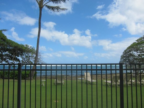 Kapaa Shores: View from the pool deck