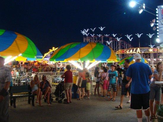 Old Orchard Beach: Et que de mieux pour amuser les enfants après le souper