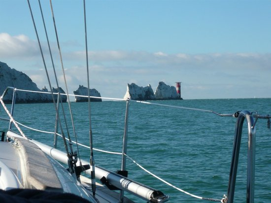 First Class Sailing: APPROACHING THE NEEDLES IOW