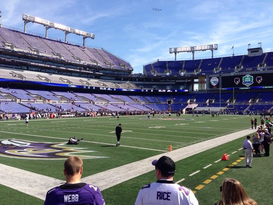 M&T Bank Stadium: View from section 134