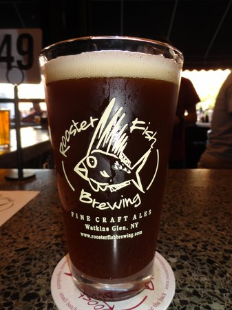 Nickel's Pit BBQ: Rooster Fish Beer