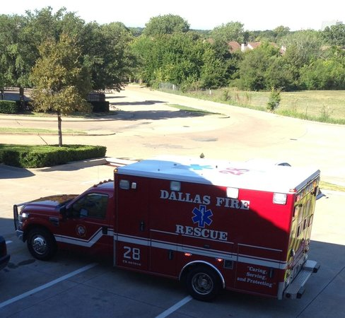 Extended Stay America - Dallas - Vantage Point Dr.: Early morning fire dept asking who there looking for ?? Really