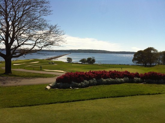 Samoset Resort Golf Course: 5th green, with 4th in the background