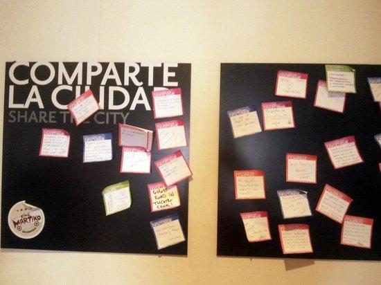 TRYP Madrid Chamberi Hotel : opiniones en post it de los huéspedes