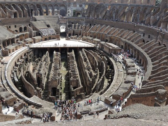 Rome Coliseum Guided Tours : Colosseum from the top