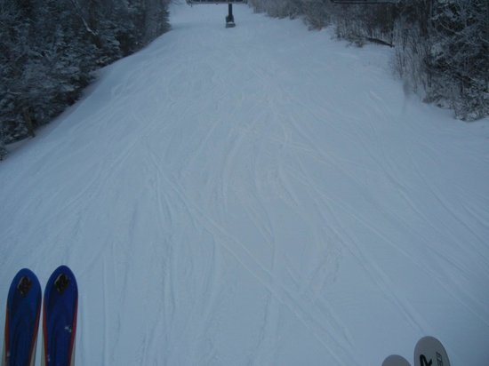 Okemo Mountain Resort: first ride up after storm
