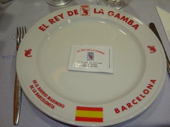 Restaurante El Rey de la Gamba Puerto Olimpico: Tutti i piatti portano il nome del ristorante
