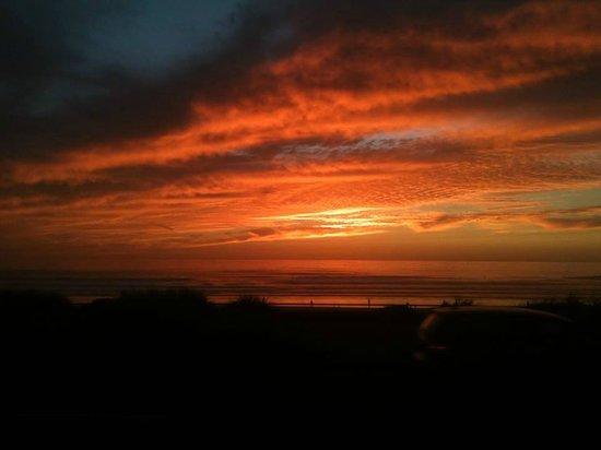 Sunset; two blocks from Ocean Park Motel.