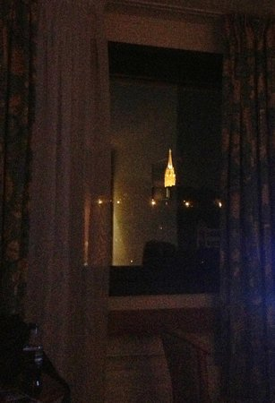 Mercure Budapest Buda: View from our window at night.