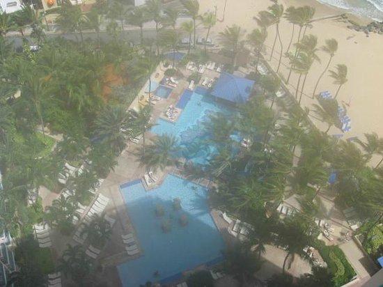 San Juan Marriott Resort & Stellaris Casino: View from the room balcony.