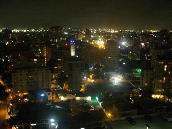San Juan Marriott Resort & Stellaris Casino: Night view looking south from the room balcony.