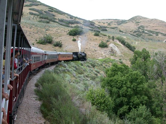 Heber Valley Railroad: A view from an open car near the back of the train.
