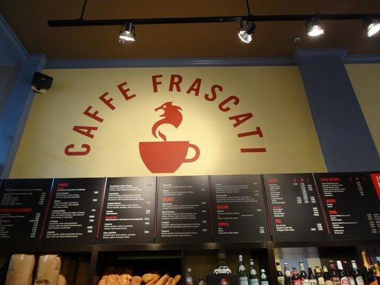 "Caffe Frascati: ""The Board"" logo"