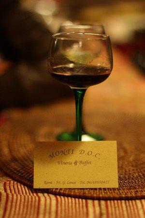 Monti DOC, Vineria & Buffet: Un digestif nous a été offert sur présentation du routard !