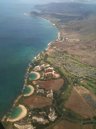 Ko Olina Lagoons: Aerial photo of Leeward Coast & Lagoons 1, 2 and 3