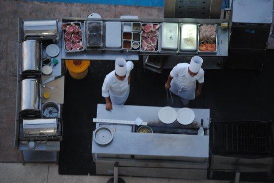 Sun Palace: Steak restuarant from our balcony