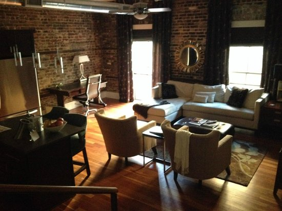 The Restoration: amazing room with exposed brick (room 202)