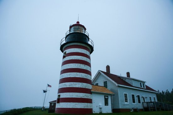 West Quoddy Head Light: Foggy and Dreary Day