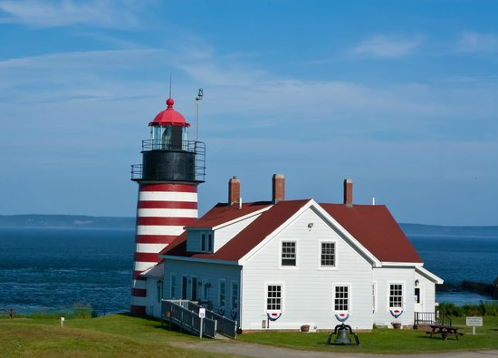 West Quoddy Head Light: Beautiful Sunshine View