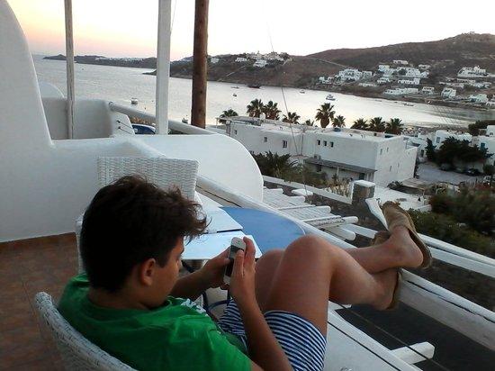 Deliades Hotel: Vista dal terrazzo.