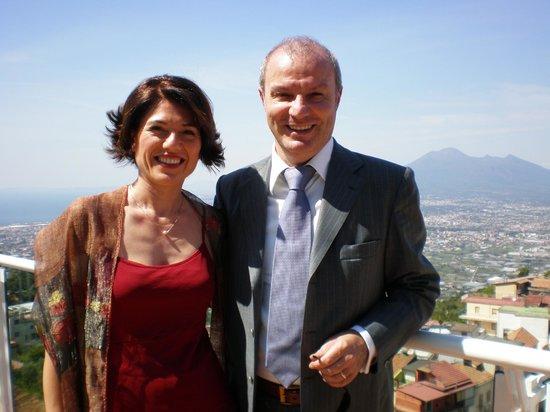 Lettere, Italien: Panorama dalla zona Piscina