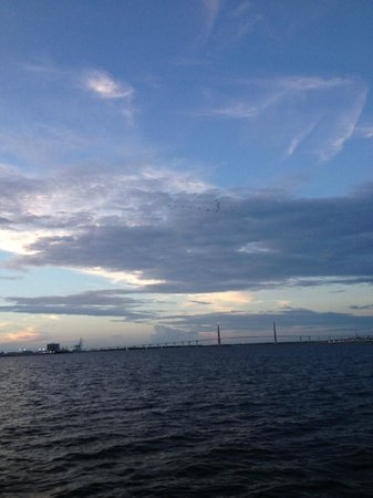 The Schooner Pride: a typical sunset is Charleston