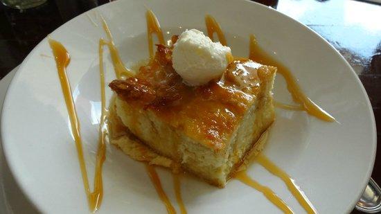 Cafe Reconcile: Bananas foster bread pudding