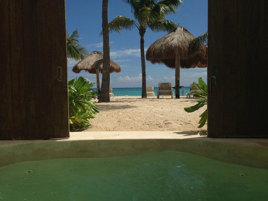 Mahekal Beach Resort: View from the private pool in our room