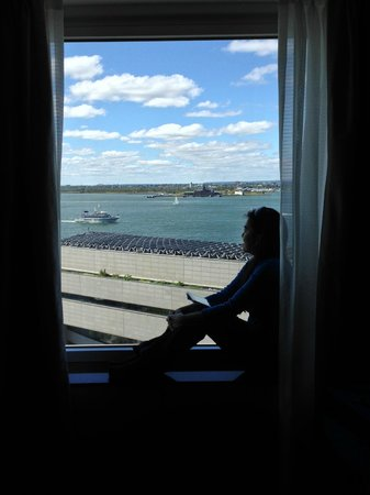The Ritz-Carlton New York, Battery Park: View of harbor.