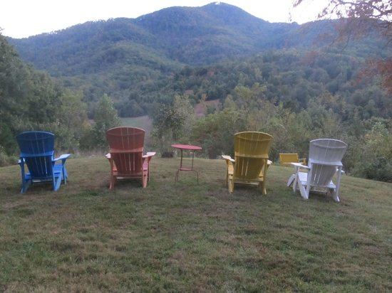 Engadine Inn & Cabins At Honey Hill: Overlook with Adirondack Chairs