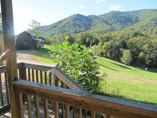 Engadine Inn & Cabins: View from the front porch across the hill