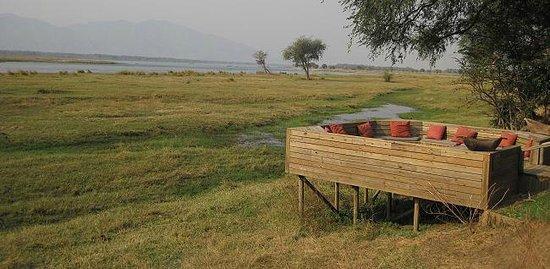 Wilderness Safaris Ruckomechi Camp: Ruckomechi Camp - game view terrace