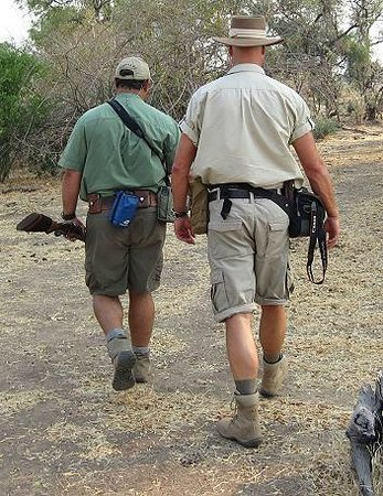 Wilderness Safaris Ruckomechi Camp: Game walk with Kevin